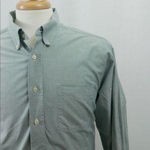 LL Bean 100% Cotton Dress Shirt Long Sleeve